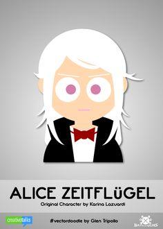 """ALICE ZEITFLUGEL"", original character by Karina Lazuardi. #VectorDoodle by Glen Tripollo"