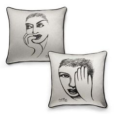 Renowned South African artist and designer Carrol Boyes finds the perfect synthesis between art and function in her unique home ware and gifting items, which draw their inspiration from both the human form and the beauty of nature South African Artists, Cushion Covers, Cushions, Sketches, Inspiration, Eye, Detail, Design, Home Decor