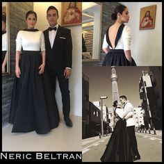@dianazubiri_ wearing #NericBeltran for her #prenup shoot #blackandwhite #fashion #madetomeasure #custommade #glam #wedding #bride #bestwishes