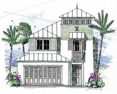 The best beach house floor plans. Find small beach bungalow homes, coastal cottage blueprints, luxury modern designs & more! Beach House Floor Plans, Coastal House Plans, Southern House Plans, Beach Cottage Style, Coastal Cottage, Coastal Style, West Indies Style, Narrow Lot House Plans, Beach Living Room