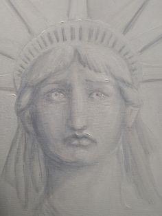 Lacrimi pentru libertate si democratie, pictura