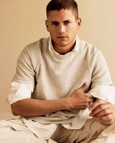 Wentworth Miller.  So I get it, God was like.. okay it's time to create perfection.. sigh... Man he is one good lookin piece of yam yam..