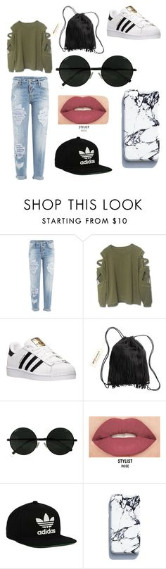 """Untitled #1"" by dannyannlloyd ❤ liked on Polyvore featuring beauty, Dsquared2, adidas, H&M, Smashbox and adidas Originals"