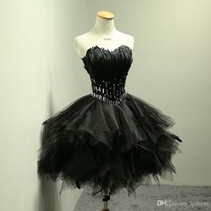 Sexy Black Cocktail Dresses with Feathers Short Party Dresses Backless Short Cocktail Gowns Pleats Tulle with Feathers Ball Gown 2016 Cocktail Dresses Sexy Cocktail Dresses Royal Blue Cocktail Dresses Online with $139.0/Piece on Lpdress's Store | DHgate.com