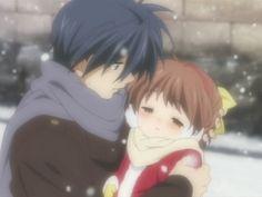 Tomoya and Ushio - CLANNAD