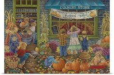 Tricia Reilly-Matthews Poster Print Wall Art Print entitled Pumpkin Time, None Artist Canvas, Canvas Art, Canvas Prints, Happy Birthday Little Girl, Best Jigsaw, Creation Photo, Wall Art Pictures, 500 Piece Puzzles, Jigsaw Puzzles
