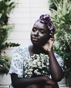 See this Instagram photo by @mominatu • Photo by @nuanceandbubbles || Head wrap. Dark skin. Beauty.