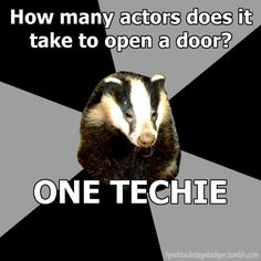 How many actors does it take to open a door?