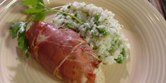 Michael Smith's Pesto-Stuffed Chicken Wrapped in prosciutto .... Used sunflower, almonds and pumpkin seeds for the pesto!