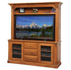 Jefferson Large TV Console (with Optional Wide-Screen Hutch)