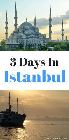 Visiting this beautiful city for the first time? Here's what to do if you have 3 days in Istanbul, including what to see, where to eat, and where to stay Istanbul Travel, Rome Travel, Travel Usa, Turkey Resorts, Turkey Travel, Turkey Europe, Beaches In The World, And So The Adventure Begins, United States Travel