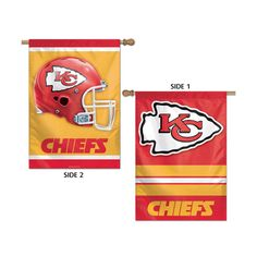 Kansas City Chiefs NFL Premium 2-Sided Vertical Flag (28x40)