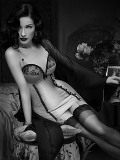 Dita von Teese. She is so sexy without being super skinny or super revealing/slutty. Classic beauty.