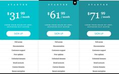 13 Best Adobe Muse Pricing Tables images in 2014 | Pricing