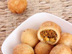 Dry Kachori - Spicy Masala Stuffed Deep Fried Crispy Kachori - Gujarati Snack for Diwali - Recipe with Step by Step Photos