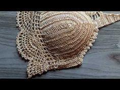 Cropped Dourado ❤ - YouTube Tops A Crochet, Crochet Shorts, Crochet Tote, Crochet Blouse, Crochet Crafts, Crochet Stitches, Crochet Bikini, Crochet Summer, African Blouses