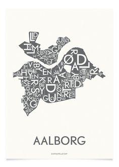 AALBORG - KOKSGRÅ - 50x70 CM   Kortkartellet
