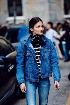 """Denim and bandana. <a href=""""/thecoveteur/"""" title=""""The Coveteur"""">@The Coveteur</a>"""