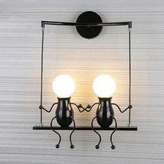 Lampe Murale Moderne Mode Applique Murale Créatif Simplicité Design Appliques - Noir