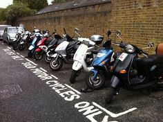 London photo of the day: motorcycle parking