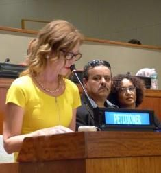 NEW YORK - The iconic singer, actress, activist, Cynthia Basinet, best known for the most popular version of Santa Baby returns to the United Nation for the 10th occasion on behalf of issues facing the Western Sahara.  From the UN official site:  CYNTHIA BASINET, Nobel Peace Prize nominee...
