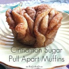 Easy cinnamon sugar pull-apart muffins (use safe refrigerated dough and butter substitute.)
