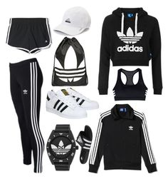 """""""👽ADIDAS👽"""" by poulsentiril on Polyvore featuring adidas, adidas Originals and Topshop"""