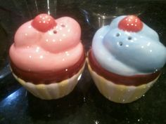 My cupcake salt and pepper shakers.