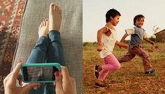 Een selfie geeft een kind een paar schoenen - FemNa40