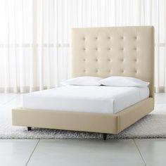c310df49bd60 Exquisite Leather Luxury Platform Bed | Bedroom | Headboard decor ...