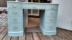 french influence lady s writing desk or vanity , bathroom ideas, chalk paint…