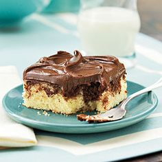 Party-Perfect Sheet Cakes Chocolate Marble Sheet Cake  SouthernLiving.com
