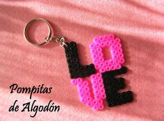 #lego Make this with legos instead of hama beads // Inspiration: Hama/perler beads keyring from LLavero.