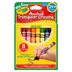 My First Crayola Washable Triangular Crayons - 8 Crayons
