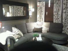 Living Room Ideas Grey Sofa - Home Design Living Room Themes, Ikea Living Room, Small Apartment Living, Living Room Decor Cozy, Living Room Designs, Dining Room, Purple Living Room Paint, Grey And Brown Living Room, Grey Sofa Decor