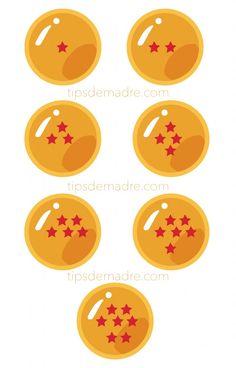 esferas-del-dragon Los detalles para los niños, muy originales, gorros, vasos, centros de mesa y decoración con algún adorno, harán que tu fiesta sea maravillosa, te paso un imprimible de esferas del dragón -sólo da click para hacer en grande- Dragon Ball, Dragon Ball Z, ideas