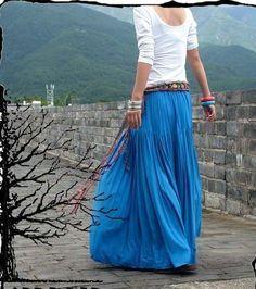 Blue Long Skirts