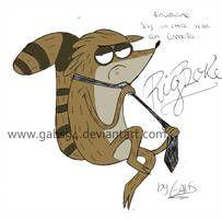 Rigby Es Un Chico Malo Con Corbata Rs By Gabs94 Regular Show Rigby Scrooge Mcduck