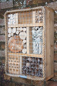 Bug Box, bug house photograph by Dave Kilbey Photography Bug Hotel, Garden Bugs, Garden Insects, Garden Path, Herb Garden, Garden Crafts, Garden Projects, Mason Bees, Sensory Garden