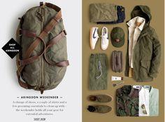 color, menswear, laydowns