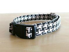 Hund: Halsbänder - Halsband Gassi Karo Pepita Hund Leine Set S/M - ein Designerstück von stitchbully bei DaWanda