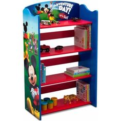 Gentil Delta Children Disney Mickey Mouse Bookshelf, Blue