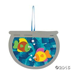 Tissue Paper Fishbowl Craft Kit, one of the cutest suncatchers I have ever seen *ad*