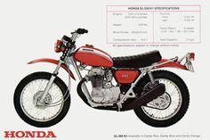 1970 Honda SL350 Vintage Motorcycle Poster 24x36 | eBay