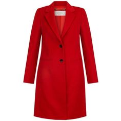 Hobbs Red 'Tilda' coat (23.085 RUB) ❤ liked on Polyvore featuring outerwear, coats, red coat, hobbs coats and hobbs