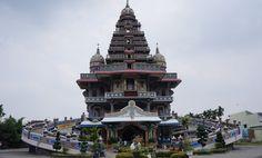 The Graha Maria Annai Vellankani church in Medan, Indonesia, resembles a Hindu temple rather than a classic cathedral.