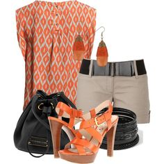 Orange & Beige summer set