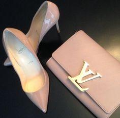 644075af96e0 Louis Vuitton   Christian Louboutin nude shoes   bag Handbags Online