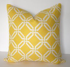 looking for the perfect yellow/white pillows for our new gray couches