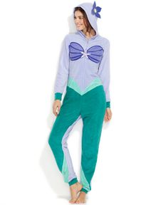 Briefly Stated The Little Mermaid Hooded Jumpsuit - #Women - Macy's #Disney #Ariel